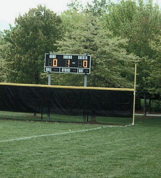scoreboard at St. Peter's